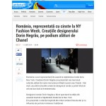 Romania, reprezentata cu cinste la NY Fashion Week